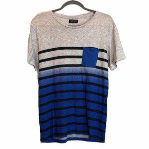Zara Man Stripe Short Sleeve Pocket T Shirt